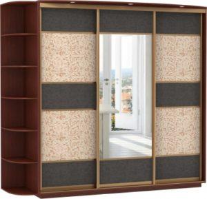 3-х дверный, корпус орех Мария-Луиза, двери экокожа, зеркало