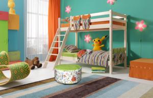 """Вариант 10 Двухъярусная кровать """"Соня"""" с наклонной лестницей"""