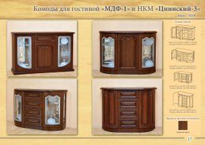 """Комоды для гостиной """"МДФ-1"""" и НКМ """"Цнинский"""""""